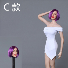лучшая цена 1/6 Scale American European Female Expression Head Sculpt Model GC021 5 Styles Model for 12 inches Action Figure Body Accessory