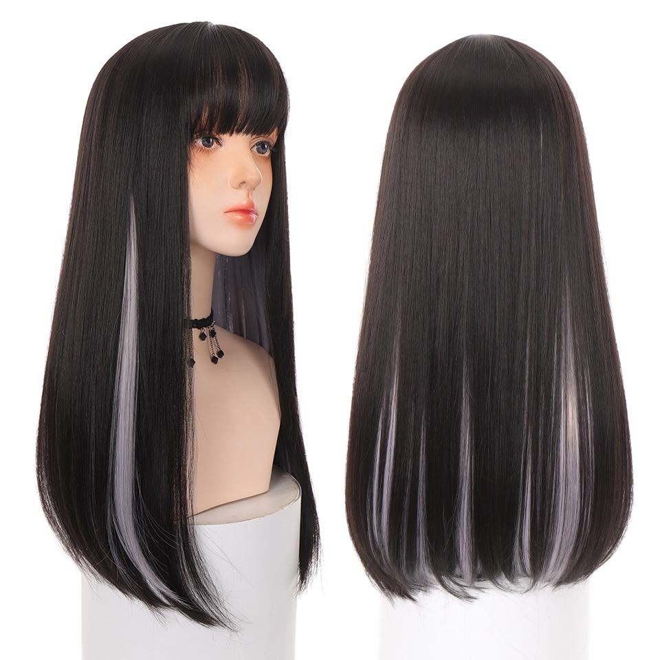 Парики AILIADE женские Синтетические длинные прямые для косплея, для вечевечерние, искусственные волосы в стиле