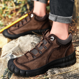 Image 5 - Męskie nowe skórzane buty zimowe utrzymuj ciepłą skórę bydlęcą miękkie na zewnątrz wspinaczka górska toolingskid odporność modne obuwie