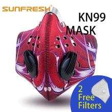 Dustproof mouth face Masks Activated Carbon Dust Mask with Extra Filter Anti Pollen Allergy PM2.5 for Running Cycling sport mask