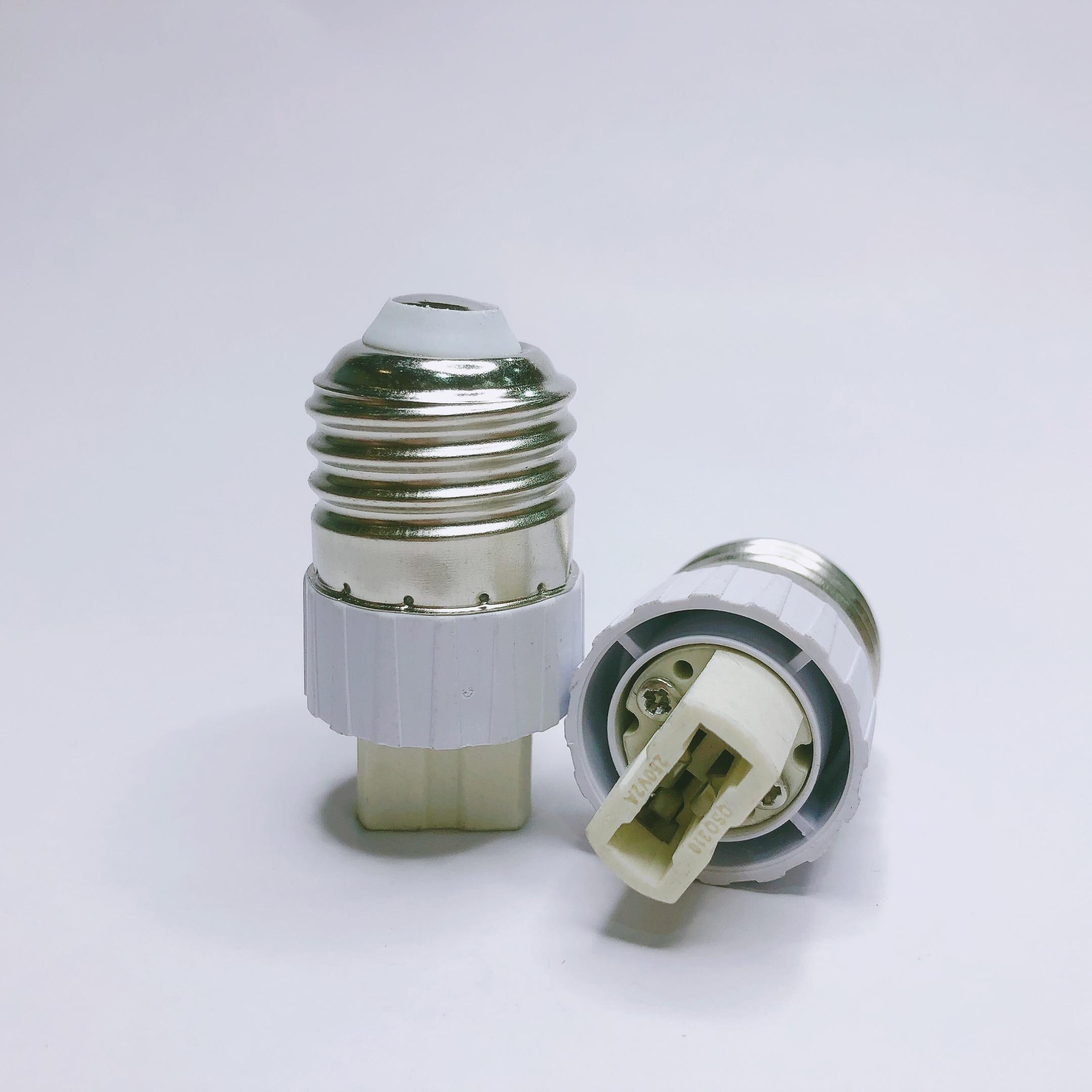 1x Fireproof Material E27 To G9 Lamp Holder Converter Socket Conversion Light Bulb Base Type Adapter