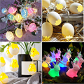 Для фотосъемки Христос воскрес с пасхальными яйцами Форма 10 светодиодный декоративный подвесной светильник украшения Счастливой Пасхи Чи...