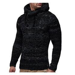 2020 automne hiver hommes chandails à capuche hommes chandails coton pull homme mode décontracté gris vin mince hommes chandails Hombre