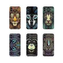 TPU Capa Shell Luminosa Animal Elefante Lobo Tiger Para Samsung Galaxy S3 S4 S5 Mini S6 S7 Borda S8 S9 s10 Lite Plus Nota 4 5 8 9(China)