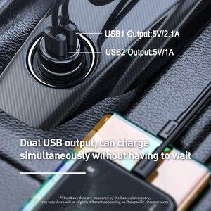 Image 3 - Baseus Fm Modulator Zender Bluetooth 5.0 Fm Radio 3.1A Usb Car Charger Handsfree Car Kit Wireless Aux Audio Fm Zender