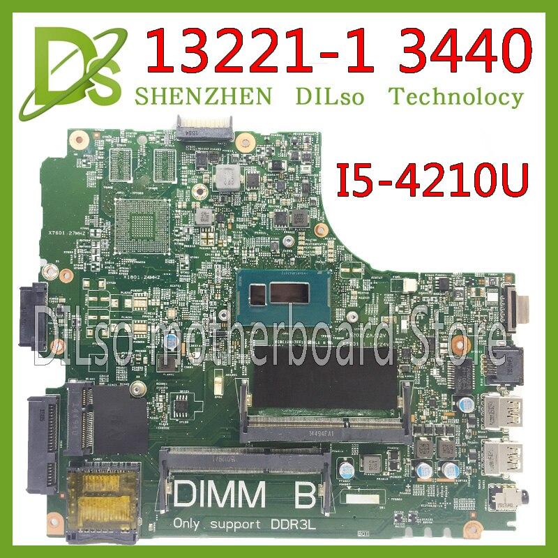 KEFU 13221-1 3440 Motherboard For Dell 3440 Laptop Motherboard DL340-HSW MB13221-1 I5-4210U GM DDR3L Original Test Motherboard