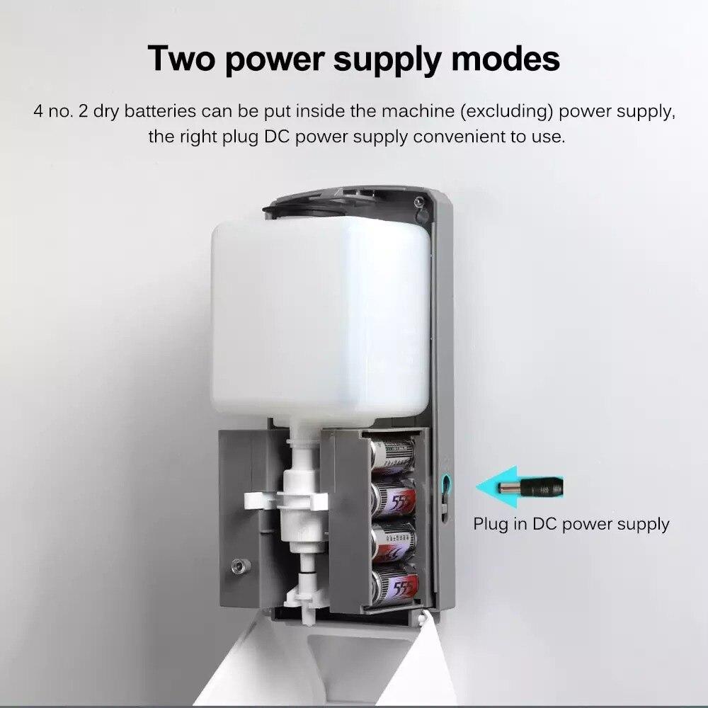 1000 мл настенное крепление автоматический ИК датчик мыло дозатор бесконтактный лосьон помпа бесконтактный жидкость дом для кухня ванная комната