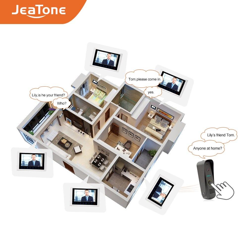 Купить с кэшбэком 1080P AHD 10'' Video Door Phone Video Intercom Doorbell IP65 Waterproof Camera Support Voice Message/Motion Detection/MP4 Player