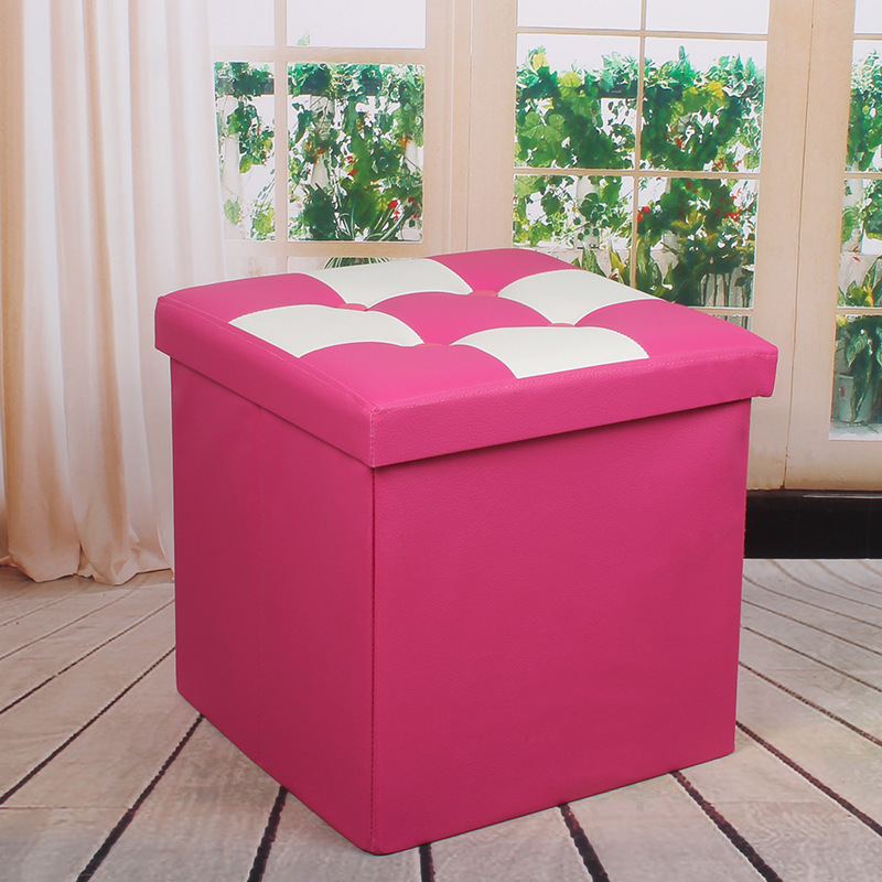 Simple Multi-functional Pu Storage Chair Storage Stool Simple Footstool Leather Zuo Xiang CHILDREN'S Toy Finishing Box Customiza