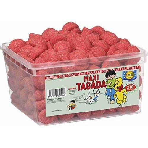 Haribo Strawberry Tagada Sweets 1.1 Kg Full Sealed Tub (210 Pieces)