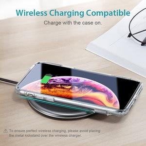 Image 5 - ESR Fall für iPhone X XR XS Max 11 11Pro Max SE 2020 8 7 Plus Metall Kick Stand Fall weiche TPU Transparente Abdeckung für iPhone