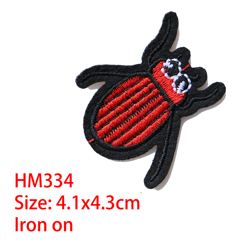 Cartoon Decorative Patch Spider,Bee Icon Embroidered Applique Patches For DIY Iron On Badges Stickers On Backpack,the Clothes