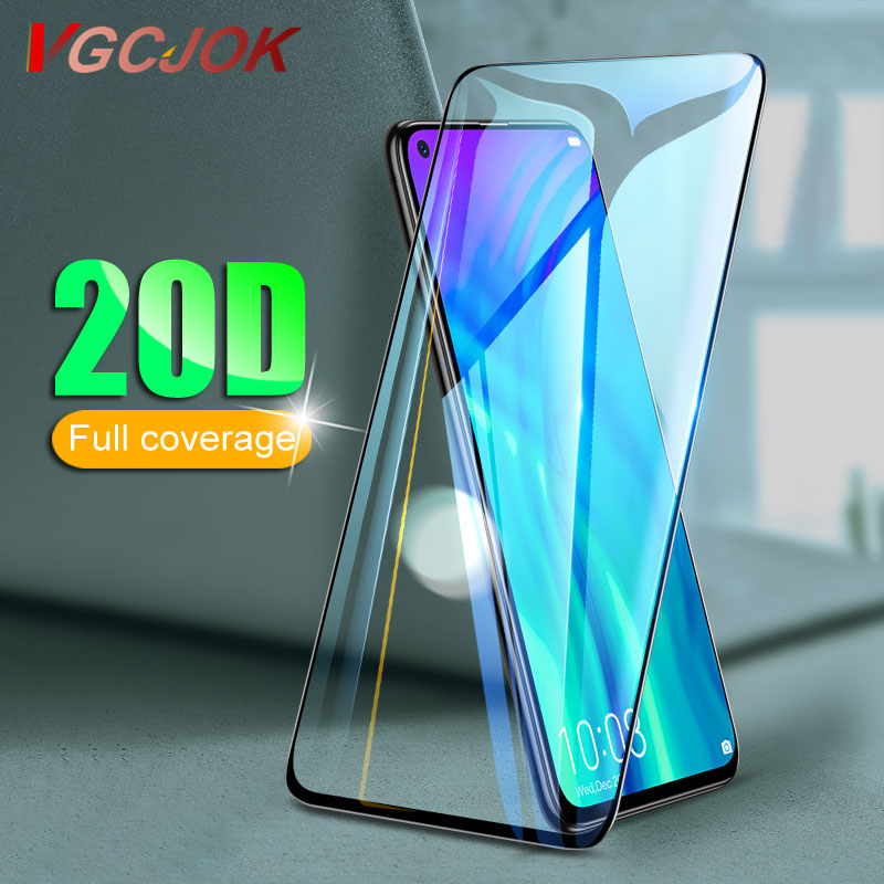 20D Full Cover Protective Glass On For Huawei Honor 8 9 10 20 Lite View 10 20 V8 V9 V10 V20 Tempered Glass Screen Protector Film