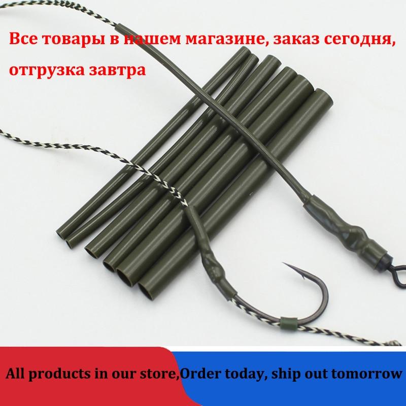 30PCS Carp Fishing Accessories Anti Tangle Sleeves Line Aligner Tube For Carp Fishing Rig Hair Ronnie Rig Terminal Tackle