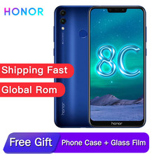 Original honor 8C Global rom 6.26in face recognition Snapdragon 632 Octa core front 8.0MP dual rear camera 4000mAh 3 cards slot(China)
