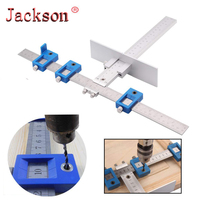 Woodworking Tools Cabinet Hardware Jig Tool - Drill Template Guide for Door and Drawer Handle + Knob + Pull Installation Tools