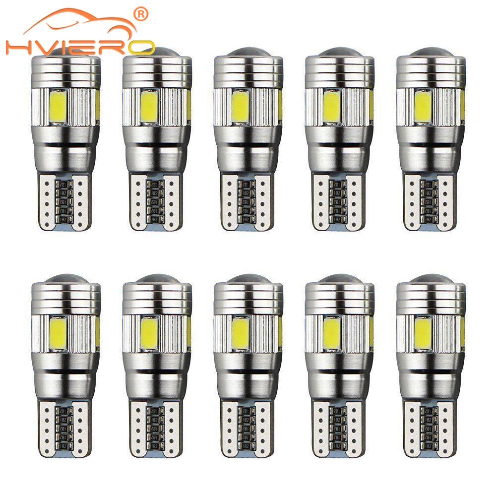 10X T10 beyaz araba oto LED T10 Canbus 194 W5W 5SMD 5630 LED ışık ampul hiçbir hata LED ışık park LED araba yan işık araba Styling