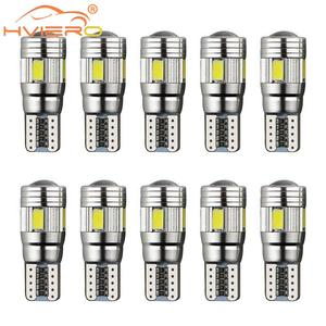 10X White Car Auto LED T10 Canbus 194 W5W Turn Signal Brake Lights License Plate Led Dome Reading Light Parking LED Side Light
