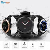Smart Watch Android 4.4 Waterproof 1.39 MTK6572 3G Wifi GPS SIM BT4.0 Smartwatch Women Men Wearable Device For iPhone Xiaomi