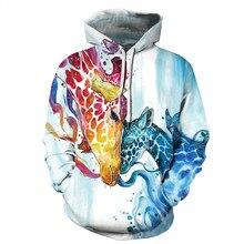 New 3D Dinosaur Print Hoodie Women Men Cute Animals Dog fish horse Hooded Hoodies Sweatshirts Pullover Casual Hip Hop Top