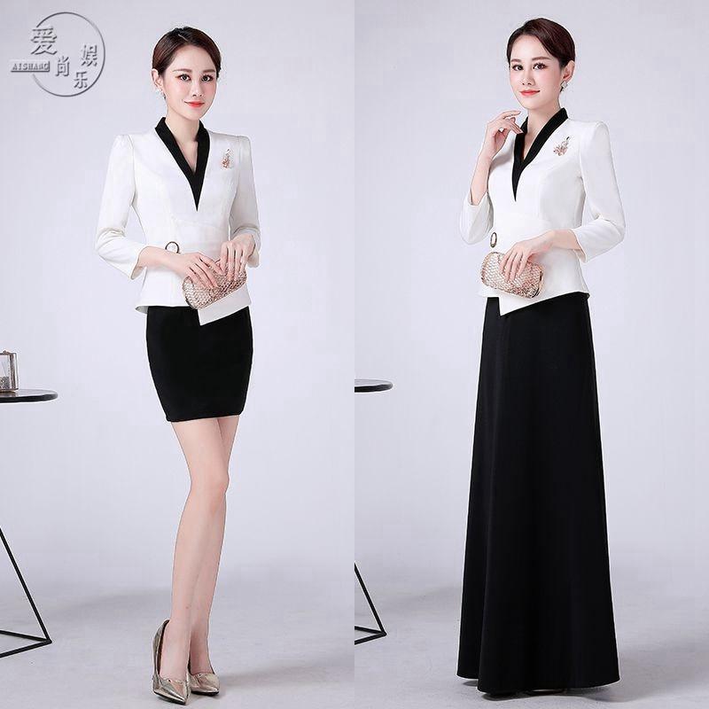 KTV Night Club Princess Dress Long Style Bar Attendant Work Uniform Hotel Welcome Uniform Autumn/winter Suit
