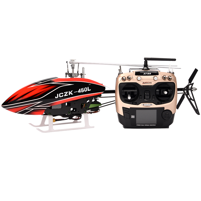 JCZK 450L Helicopter DFC Flybarless 6 Channels Metal Carbon Remote Control Aircraft Model Trex Helicopter