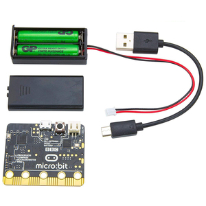 Image 2 - BBC micro:bit Go start kit with Protective Case Non acrylic Silicone Case and 10 Pieces Alligator Clips Test Lead