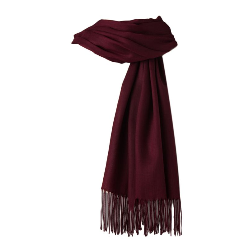200x70cm Women Girls Pashmina Candy Solid Color Scarf With Fringe Tassels Autumn Winter Soft Warm Long Slim Shawl Blanket Wraps