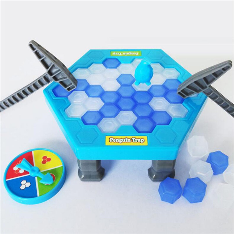 Save The Penguin Ice Breaking Great Family Funny Desktop Game Kid Toy Gifts Who Make The Penguin Fall Off Lose Game #40D11