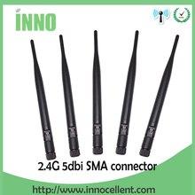 5 шт. 2,4 ГГц антенна 5dBi SMA разъем 2,4 ГГц антенна wifi антенна 2,4 г водонепроницаемая wi fi антенна для беспроводной wi-fi роутера