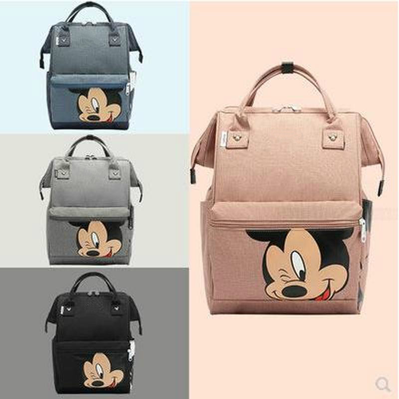 Disney Mummy Bag Large Capacity Pregnant Women Backpack Mickey Mouse Waterproof Diaper Bag Stroller Bag Backpack Diaper Bag
