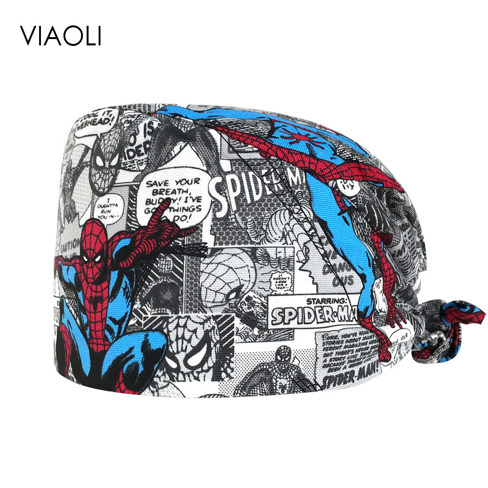 Printed surgical caps cotton…
