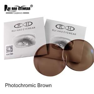 Image 3 - 1.56 1.61 1.67 Photochromic Lenses Grey Brown Sunglasses Lens Myopia Resin Lens Anti UV Discolor Indoor Transparent