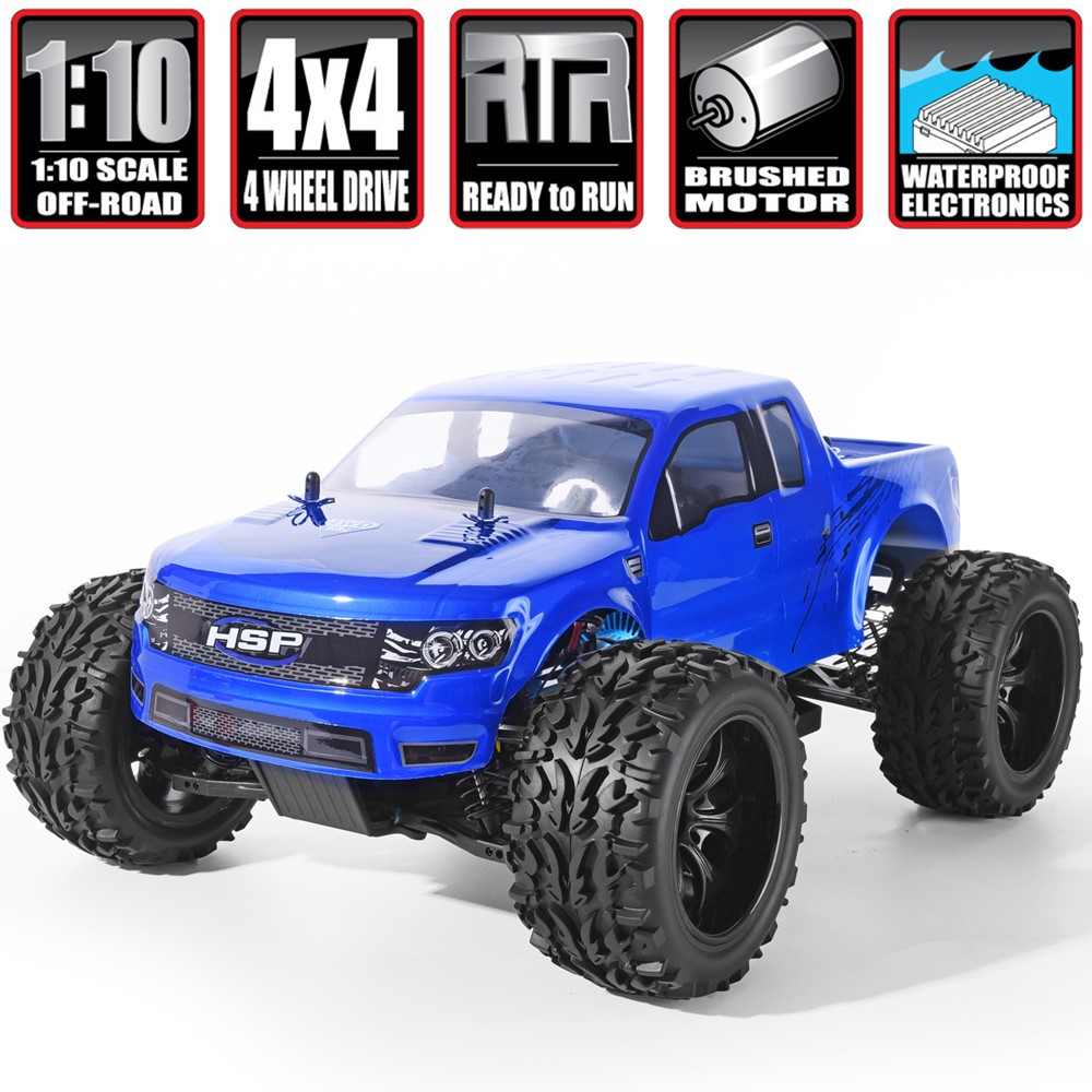 HSP RC Car 1/10 Scale 4wd Off Road Monster Truck 94111 Electric Power 4x4 vehicle Toys High Speed Hobby Remote Control CarRC Cars   -