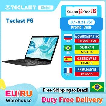 Teclast F6 Laptop 13.3 Inch FHD IPS 1920x1080 Intel Apollo Lake Windows 10 Notebook 8GB LPDDR4 128GB SSD Dual Wi-Fi 1
