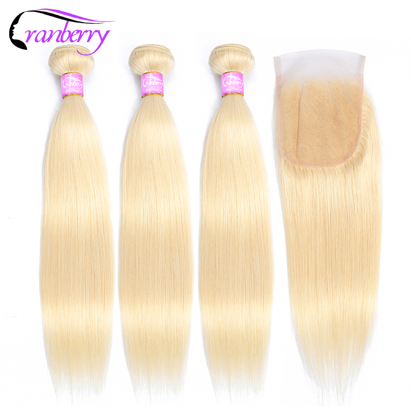 Cranberry 613 Bundles With Closure Straight Hair Bundles With Closure Remy Hair Bundles With Closure Brazilian Hair Weave Bundle