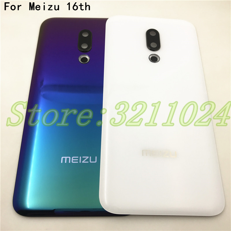 Original 3D Glass Back Battery Cover For Meizu 16 16th M882Q M882H Case Back Glass Rear Door Housing With Camera Lens