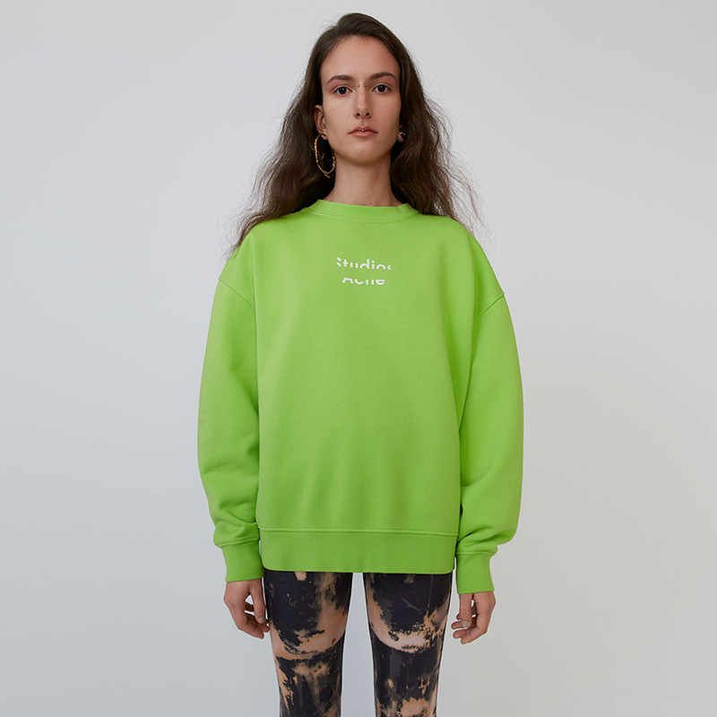 2020 Spring Cotton Round O Neck Bust Half Letter Logo Pullover Long Sleeve Sweatshirt For Men And Women A3