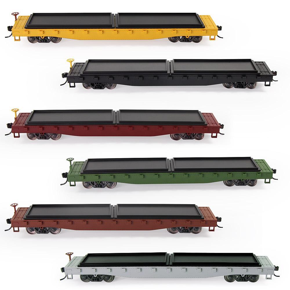 1 шт., плоский автомобильный планшетный транспортер в масштабе 52 дюйма, модель 1:87 52 фута, поезд, контейнерная перевозка, грузовой автомобиль ...