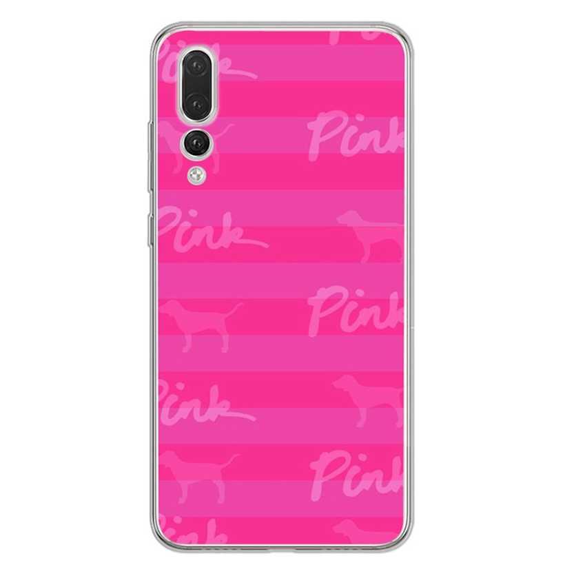 Lembut untuk Huawei Honor 7A 8A 8X 8C 9 10 Mate 20 P Smart P10 Lite Nova 3 TPU cinta Merah Muda Bintang Cover D168