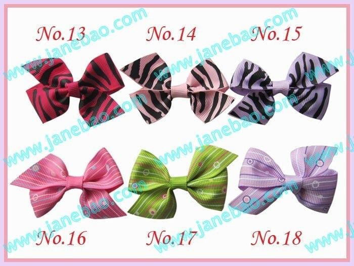 Стиль 540 шт 2,5 ''смешанные цвета девушки бутик заколки для волос крыло банты волос