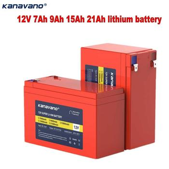 Kanavano DC12V Rechargeable Battery lithium ion battery 7A 9A 15A 21AH 18650 battery High capacity for toy car