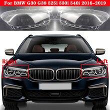 Couverture de phare avant de voiture pour BMW série 5 G30 G38 525i 530i 540i 2016-2019 abat-jour de phare
