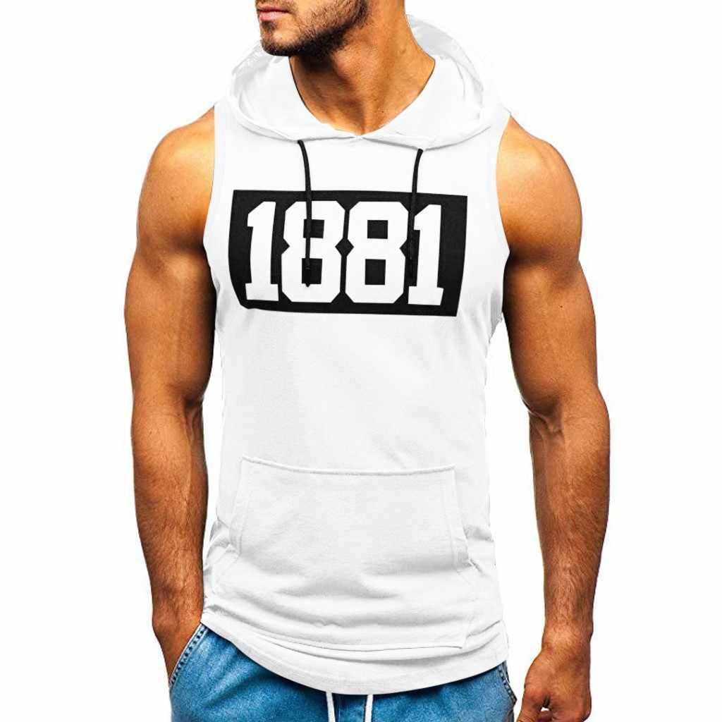 패션 코튼 민소매 남성 셔츠 후드 티 탱크 탑 남성 피트니스 셔츠 남성 싱글 보디 빌딩 운동 체육관 조끼 휘트니스