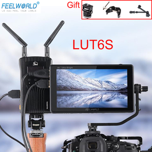 Image 2 - FEELWORLD LUT6S LUT6 6 Inch 2600nits 3D LUT HDR Touch Screen DSLR Camera Field Monitor  3G SDI 4K with Waveform VectorScope
