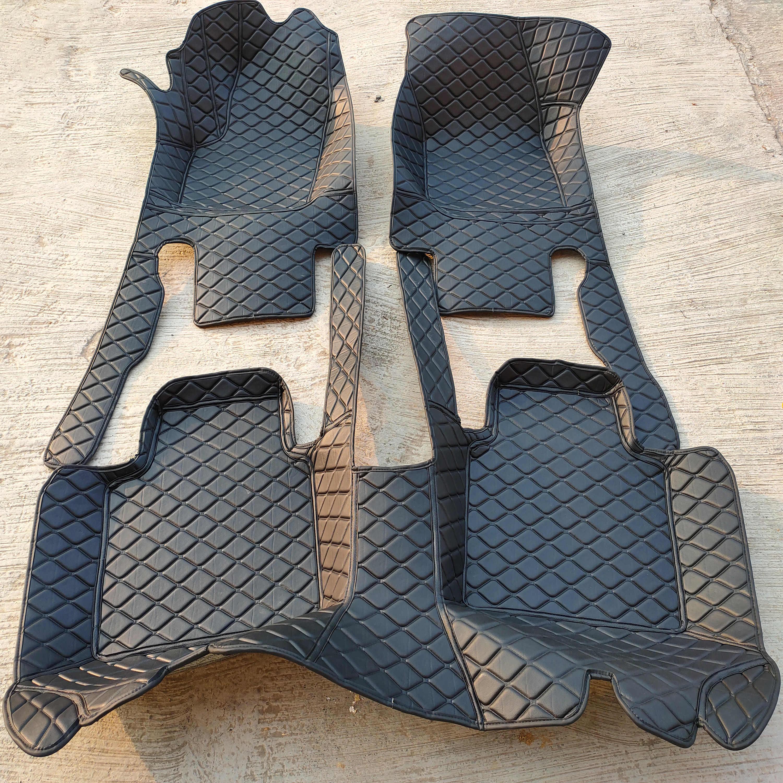 Carfunny Tahan Air Kulit Lantai Mobil Tikar untuk Mercedes Benz GLK220 250 300 350 W204 Kustom Otomotif Karpet