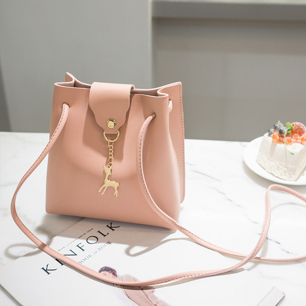 Vintage Small Women Bucket Bag For Handbags Women PU Leather Shoulder Bags Girls Drawstring Messenger Crossbody Bag