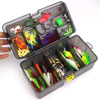 168Pcs/set Multi-function Fishing Baits Hooks Set Boxed Fish Lures Accessories Fishing Gear Set Outdoor