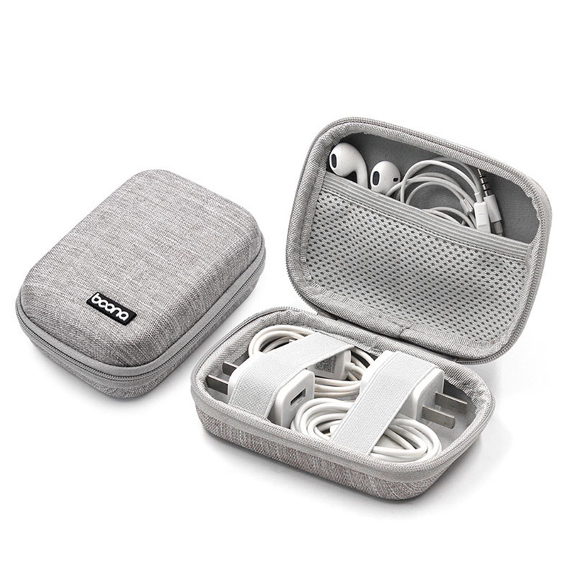 Mini Hard Shell Digital Gadgets Earphone Storage Bag for Mac Adapter Data Cable HDD Electronics Accessories Organizer Case