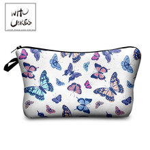 Cosmetic-Bag Butterfly-Pattern Storage Toiletry Beauty Waterproof Women White Who Cares